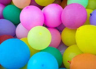 allestimento con i palloncini